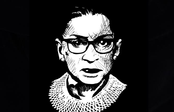 The late U.S. Supreme Court Associate Justice Ruth Bader Ginsburg. Illustration: Christine Smith