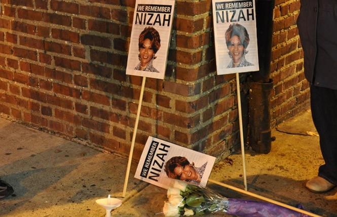A candlelight memorial for Nizah Morris, who died in 2002. Photo: Courtesy PGN