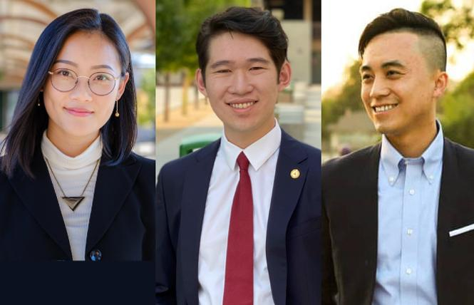 Lucy Shen, Justin Sha, and Alex Lee. Photos: Courtesy the campaigns