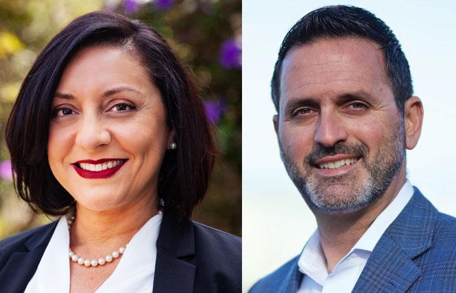 District 7 candidate Myrna Melgar and District 11 Supervisor Ahsha Safaí. Photos: Courtesy the campaigns