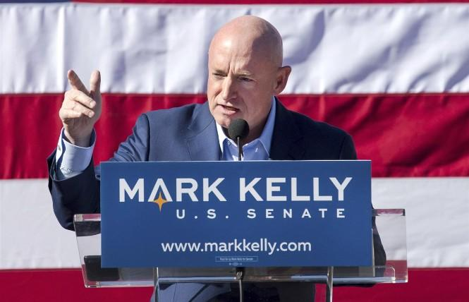 Former NASA astronaut Mark Kelly is ahead in his bid to unseat Senator Martha McSally in Arizona. Photo: Courtesy AP