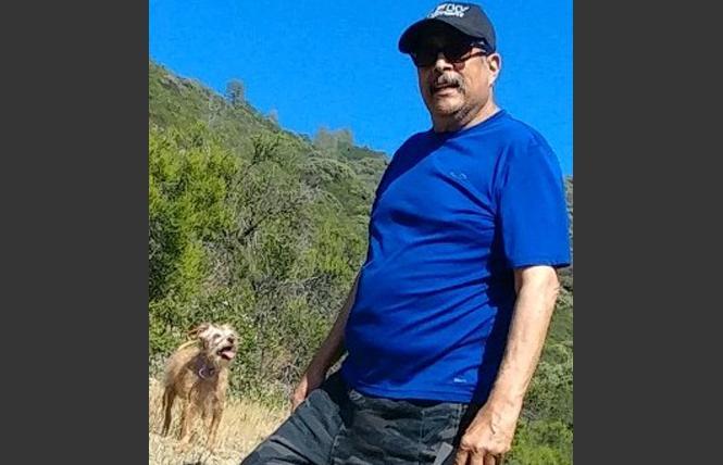 Santos Rangel and his dog, Daisy.