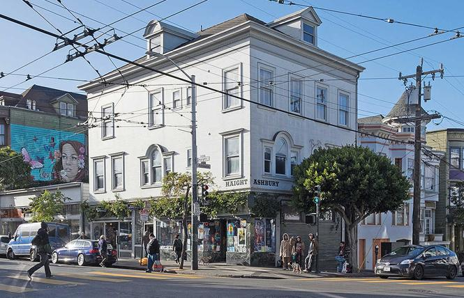 The Doolan-Larson Residence and Storefronts sits at the corner of Haight and Ashbury streets in San Francisco. Photo credit: Scott Hahn/SF Heritage via National Trust for Historic Preservation