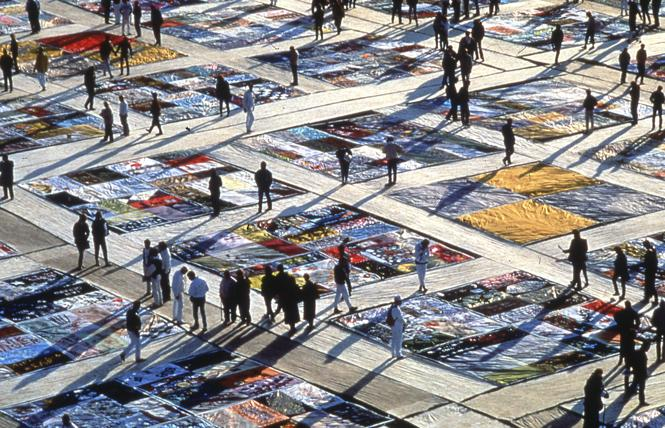 The National AIDS Memorial Quilt was displayed on the Ellipse of the White House in 1988. Photo: Courtesy National AIDS Memorial Grove