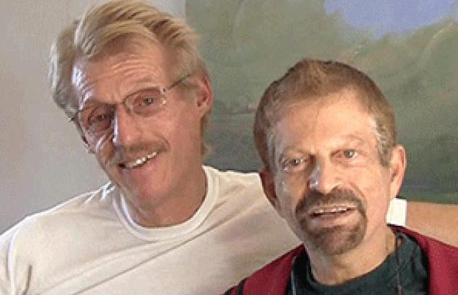 "Tom Taylor, left, and his husband, Dr. Jerome ""Jerry"" Goldstein. Photo: Courtesy Tom Taylor"