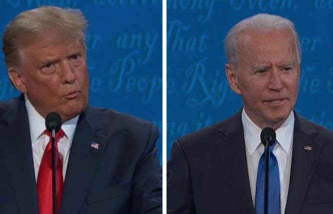 President Donald Trump and former vice president Joe Biden took swipes at one another during the final debate October 22. Photo: Screengrab via CNN