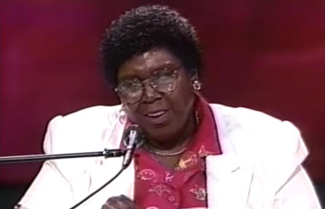 Barbara Jordan addresses the crowd at the 1992 Democratic National Convention. Photo: Screengrab