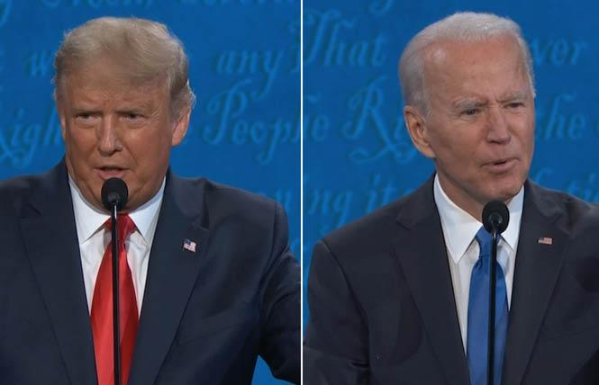 President Donald Trump and former vice president Joe Biden met in the final presidential debate October 22 in Tennessee. Photo: Courtesy CNN