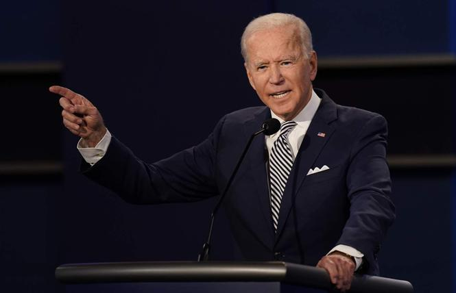 Democratic presidential candidate Joe Biden hopes to gain support from LGBTQ voters in the November 3 election. Photo: AP