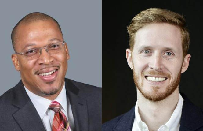 Edward Jones, left, and Andrew Wallace discussed a recent report that notes philanthropic giving to Black LGBTQ organizations is a fraction of donations given to the broader queer community. Photos: Jones, courtesy ABFE; Wallace, courtesy Funders for LGBTQ Issues