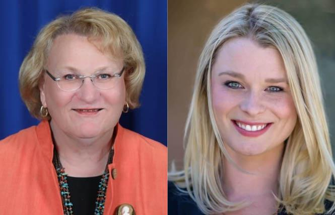 Lisa Middleton, left, and Christy Holstege were both reelected to the Palm Springs City Council November 3. Photos: Courtesy LGBTQ Victory Fund