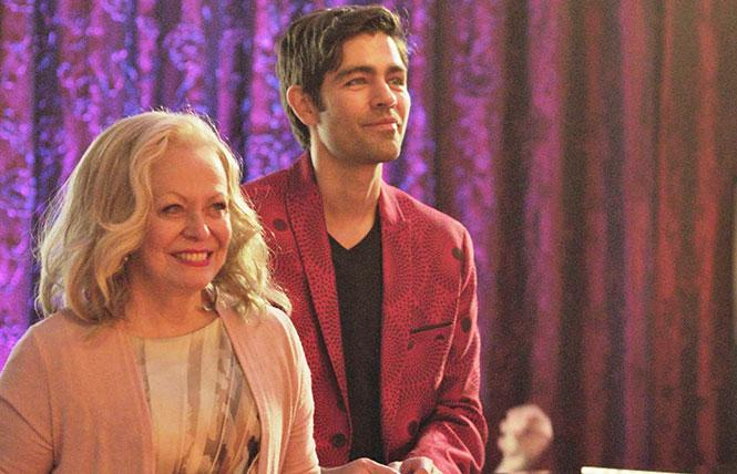 Jacki Weaver and Adrian Grenier in 'Stage Mother.'