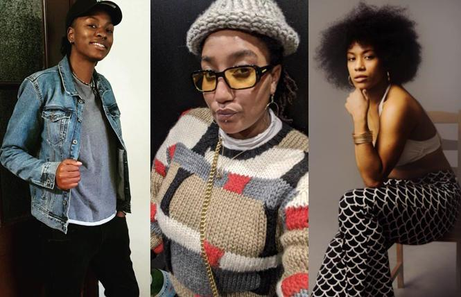 Shay House, Eddrena Hall and Miaya Potter, three of BlaQ ArTed's filmmakers