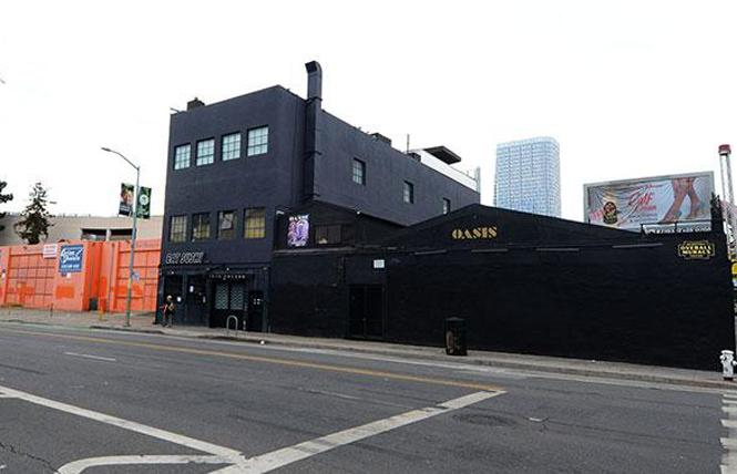 The 1500 block of Folsom Street, as seen from the parking lot of Action Rentals, left, to the Oasis nightclub. Photo: Rick Gerharter