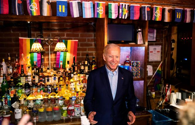 President-elect Joe Biden visited the Stonewall Inn in New York City in June 2019. Photo: Courtesy Demetrius Freeman for the New York Times