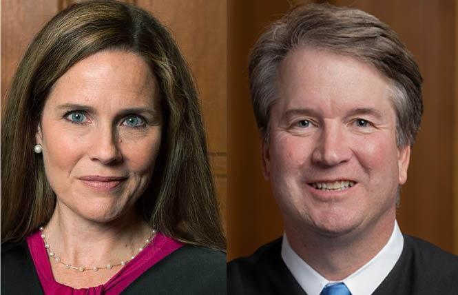 Justices Amy Coney Barrett and Brett Kavanaugh are part of the Supreme Court's new conservative majority. Photos: Barrett Courtesy AP; Kavanaugh Courtesy U.S. Supreme Court