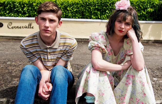 Fionn O'Shea and Lola Petticrew in 'Dating Amber'