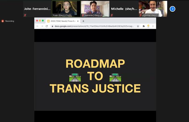 APIENC held a virtual news conference November 18 to review findings of a needs assessment it conducted for gender-nonconforming Asian and Pacific Islanders in the Bay Area. Photo: Screengrab via Zoom