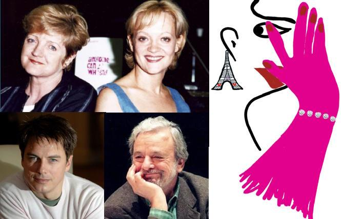 Julia McKenzie, Maria Friedman, John Barrowman and Stephen Sondheim in 1997.