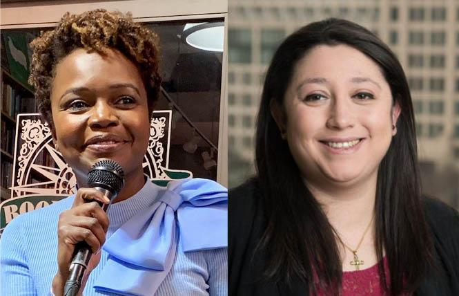 Karine Jean-Pierre, left, and Pili Tobar will have key positions in President-elect Joe Biden's communications department. Photos: Jean-Pierre/Sari Staver; Tobar/America's Choice