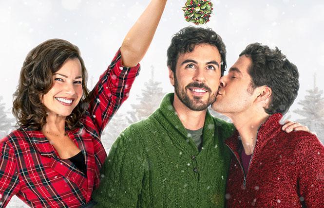 Fran Drescher, Blake Lee and Ben Lewis in 'The Christmas Setup'