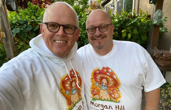 Morgan Hill City Councilman Rene Spring, right, and his husband, Mark Hoffmann, moved to the South Bay city nearly 17 years ago. Photo: Courtesy Rene Spring