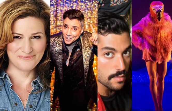 Ana Gasteyer in the Seth Concert Series, Marga Gomez at The Marsh, Hamed Sinnol at OutSummit, AXIS Dance's 'Alice in Californiland.'