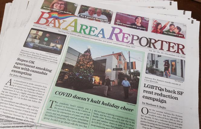 The Bay Area Reporter is one of 15 local news outlets participating in a fundraising campaign to save local journalism. Photo: Cynthia Laird