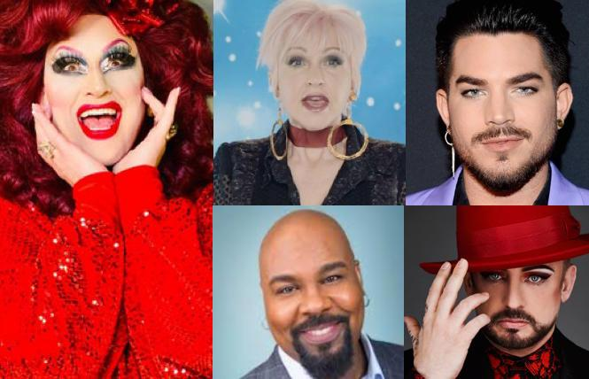(clockwise from left) Jackie Beat, Cyndi Lauper, Adam Lambert, Boy George, James Monroe Iglehart