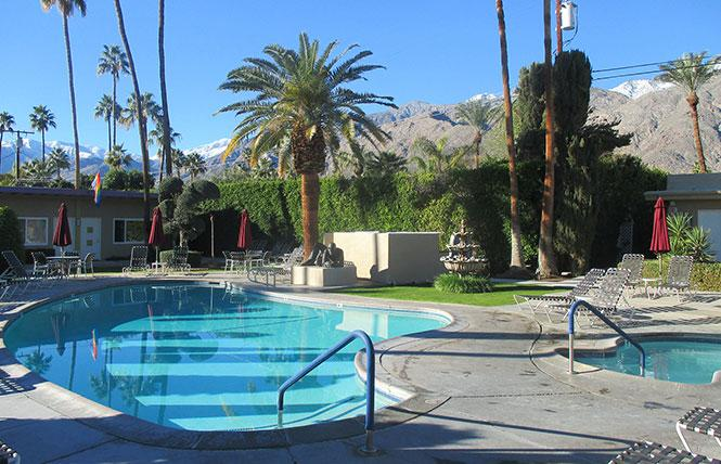 The INNdulge gay resort in Palm Springs has been put on the market. Photo: Ed Walsh