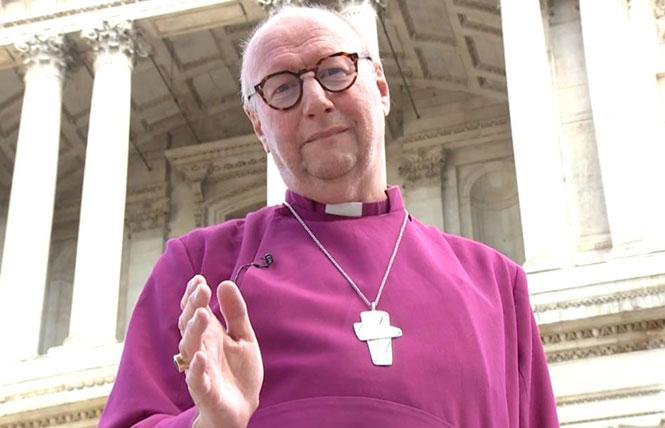 The Right Reverend Paul Bayes, the Anglican bishop of Liverpool, appeared in a video accompanying the declaration calling for the end of violence against LGBTQ people. Photo: Courtesy CNN