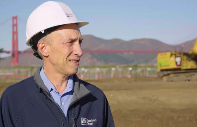 Presidio Trust employee Michael Boland shows off the Quartermaster Reach Marsh project in a video. Photo: Courtesy Presidio Trust