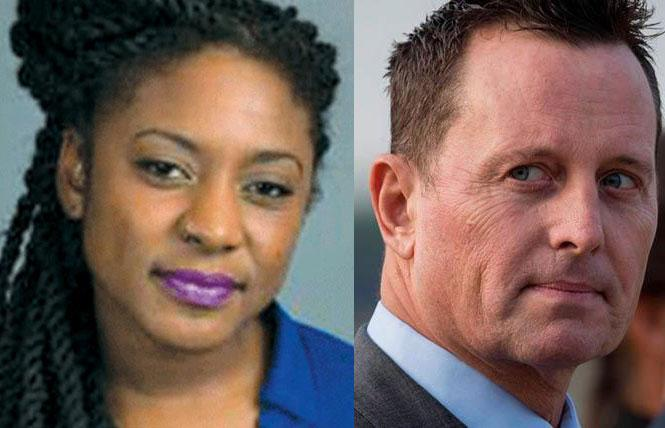Black Lives Matter co-founder Alicia Garza, left, and Richard Grenell were two LGBTQ players in 2020.