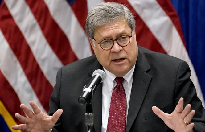 Former Attorney General William Barr. Photo: AP