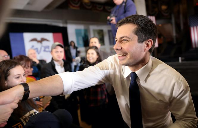 Pete Buttigieg, as photographed by Gage Skidmore, used under CC license/resized and cropped.