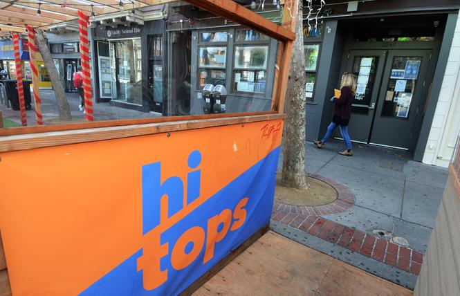 Hi Tops' sidewalk dining is closed now, but the Castro business was able to secure a federal paycheck protection program loan last year, records show. Photo: Rick Gerharter