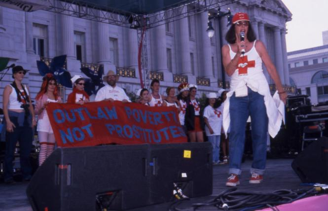 Margo St. James spoke on the main stage at the 2001 San Francisco LGBT Pride Parade. Photo: Rick Gerharter