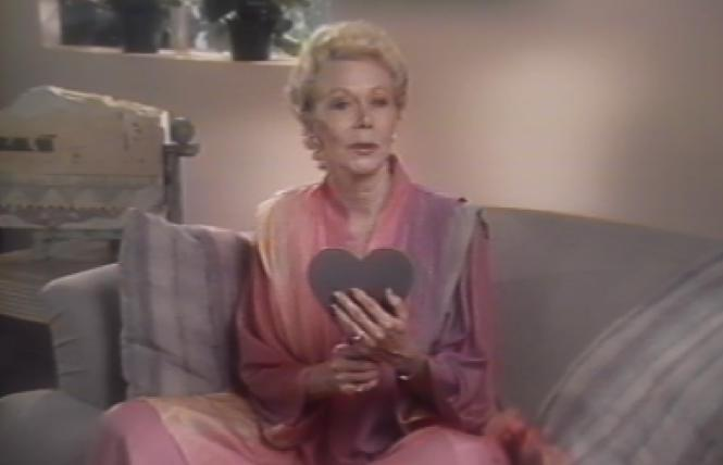 Louise Hay in archival video footage in 'Another Hayride'