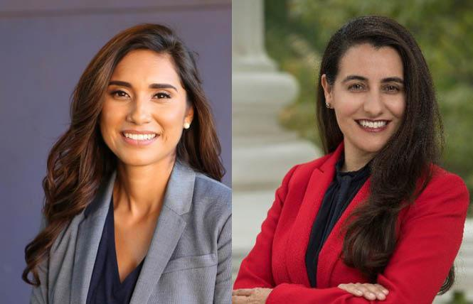 Many state Democratic lawmakers lost points on Equality California's 2020 legislative scorecard for their votes on the LGBTQ youth offender sex registry bill, including Assemblywomen Sabrina Cervantes, a lesbian, and Monique Limón, who both abstained. Photos: Courtesy Cervantes and Limón.