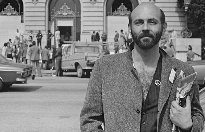 Lee Mentley stood outside San Francisco City Hall the day after the White Night riots, May 22, 1979. Photo: Daniel Nicoletta