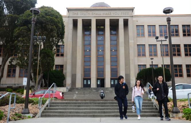 The trustees of City College of San Francisco, whose Science Hall is shown here in 2018 pre-COVID, are calling on state lawmakers to pass a bill that would end deadnaming trans and nonbinary college students. Photo: Rick Gerharter