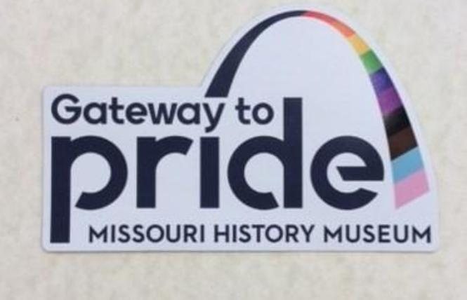 "A magnet promotes the new online ""Gateway to Pride"" exhibit. Photo: Courtesy Missouri Historical Society"