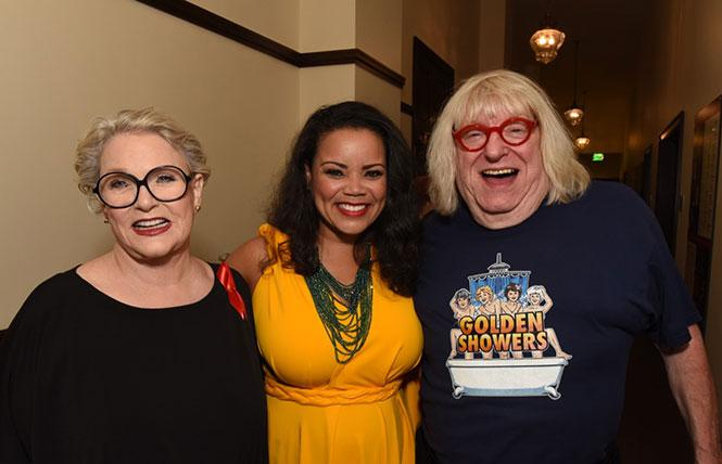 Sharon Gless, Kimberley Locke and Bruce Vilanch at a 2019 REAF benefit. photo: Steven Underhill