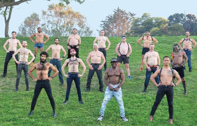 The 2021 Bare Chest Calendar men. photo: Dot