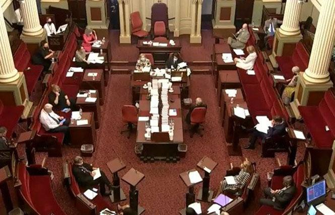 The Victorian parliament in Australia has banned conversion therapy. Photo: Courtesy ABC News