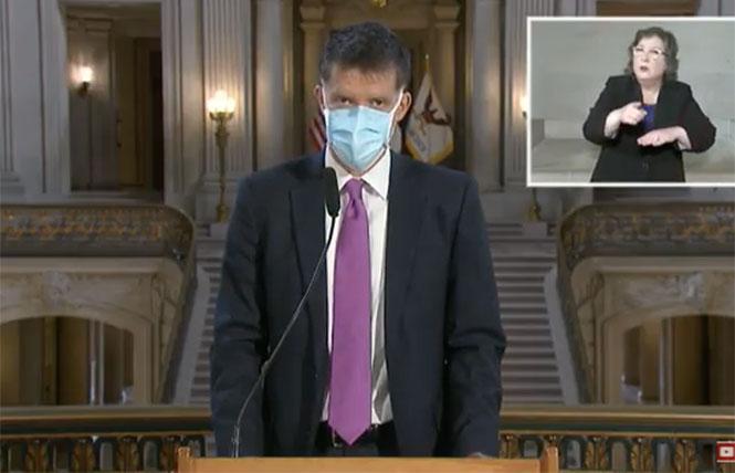 San Francisco Health Director Dr. Grant Colfax. Photo: Screengrab