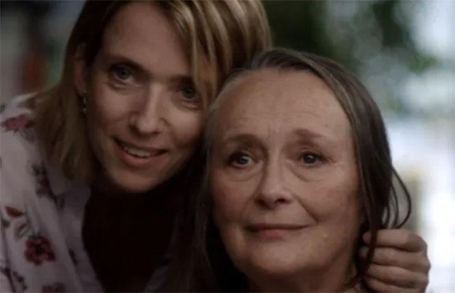 Barbara Sukowa and Martine Chevallier in Two of Us.