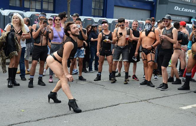 Esteban DeLeon wowed the crowd with his dancing at the 2018 Folsom Street Fair. Photo: Rick Gerharter