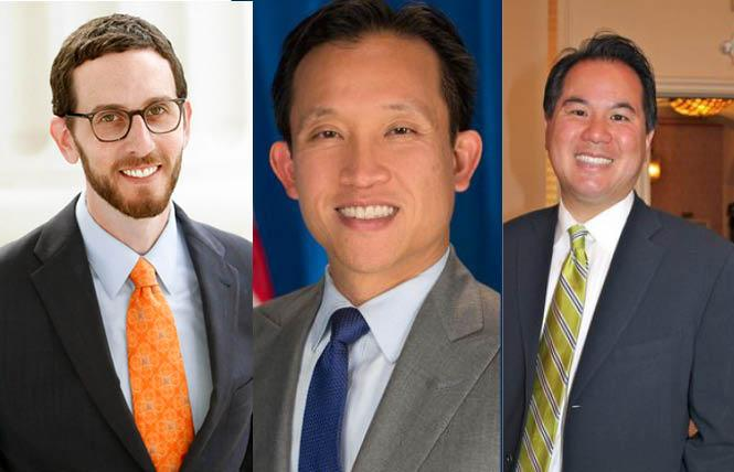 State Senator Scott Wiener, left, and Assemblymen David Chiu and Phil Ting, have all introduced bills that would address housing and homelessness in the Golden State. Photos: Courtesy the legislators