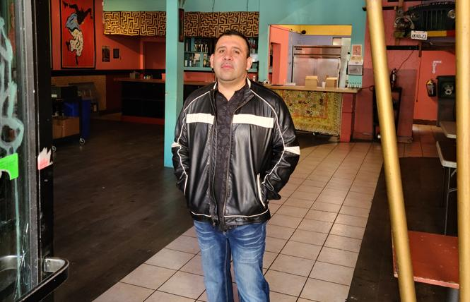 Valentino Carrillo stands inside the soon-to-be-home of his new eatery, Que Rico Nightclub and Restaurant. Photo: Cynthia Laird
